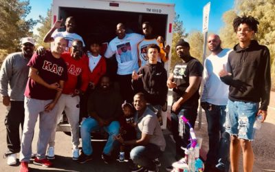 Las Vegas Nupes supports the Las Vegas Kappa League at their FUNDrive Clothing Event
